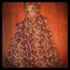 Snake Skin Patterned Tank Top This shirt has been worn a few times.It's in great condition! Tops Tank Tops