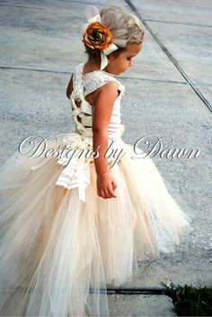 Big Fan Of Lace ... My Flower Girl Dress