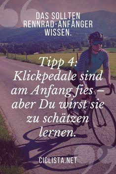Wissen für Rennrad Einsteiger -  Tipp 4 für Rennrad Anfänger: Klickpedale sind anfangs fies - aber Du wirst sie zu schätzen lernen. #Rennrad #Tipps #Anfänger #Klickpedale #Klickies Movies, Movie Posters, Mtb, Facebook, Twitter, Fitness, Instagram, Autos, Bike Quotes