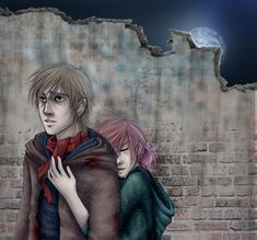 HP6: The Werewolf and the Girl (Lupin x Tonks) artwork by leelakin