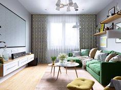 Proprietarii acestui apartament de două camere le-au cerut designerilor de la Oleg Mints ca viitoarea amenajare să fie tinerească, ve...