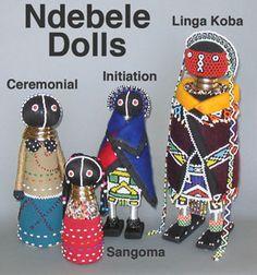 CRIZMAC: Ndebele Dolls - Set of four dolls