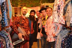 At Shoop Doop London shirts in Arpora Goa. Some of our funky customers!