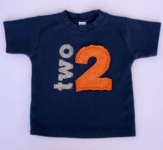 I think I've found our birthday shirt :)    Toddler Birthday shirt Layered Applique Number by CantaloupeCorner, $25.00