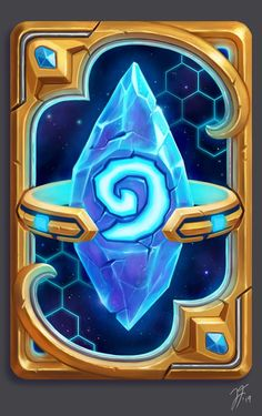 Some Hearthstone/StarCraft fan art. Hearthstone Card Back Concept: Pylon Game Design, Icon Design, Hearth Stone, Elemental Powers, Mobile Art, Game Icon, Magic Book, Hindu Art, Texture Design