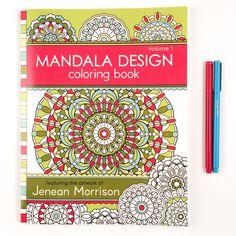 Mandala Design Coloring Book: Volume 1 (Jenean Morrison A. Mandala Coloring, Colouring Pages, Adult Coloring Pages, Coloring Books, Mandala Design, Zentangle, 30 Gifts, Book Design, Design Shop