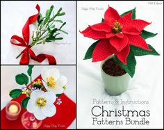 Christmas Crochet PATTERN BUNDLE Crochet von HappyPattyCrochet