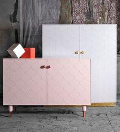 remodel and upgrade IKEA cabinetry living room storage cabinets white pink Decor, Interior Design Living Room, Furniture Design, Ikea Makeover, Cabinetry Living Room, Living Room Storage Cabinet, Furniture Accessories, Ikea Cabinets, Home Decor