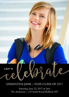 Grad Party Celebrate Invitation