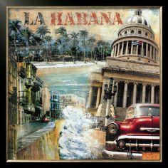 Paisajes De La Habana | La Habana, Cuba I Lámina enmarcada