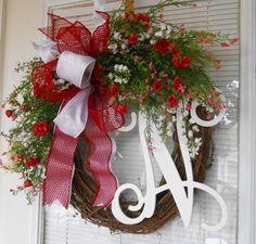 Valentine wreath Valentine gift Everyday by CottageHouseWreaths
