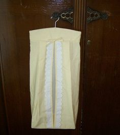 Vintage diaper stacker...consider a staple at every baby shower