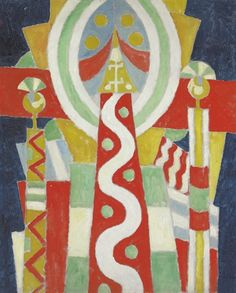 """Lighthouse,"" Marsden Hartley, 1915, oil on canvas, 40 x 32"", private collection."