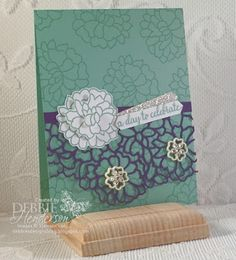 So In Love stamp set, the So Detailed Thinlits Dies and the Falling In Love Embellishments.