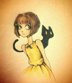 Midnight Valentine Card by Loza-LaSphinx on DeviantArt Fran Bow: Mr. Midnight Valentine Card by RazTheSphinx on DeviantArt Tim Burton, Bow Drawing, Little Misfortune, Creepy Games, Bow Art, Mad Father, Rpg Horror Games, Fanarts Anime, Arte Horror