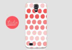 Red WATERCOLORED POLKA DOTS - Samsung Galaxy s4, Galaxy s3