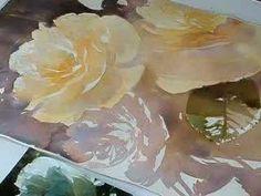 Yellow Rose Watercolor Demo Part 3