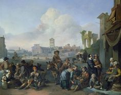 A View in Rome, 1668 (oil on canvas) by Johannes Lingelbach