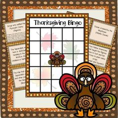 Free Middle School Thanksgiving Bingo