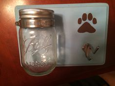 DIY Wooden Plaque Mason Jar Dog Treat Leash by TheBeautifulBel, $22.00