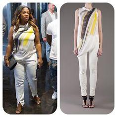#KandiBurruss' White, Yellow, & Gray Shirt #RHOA