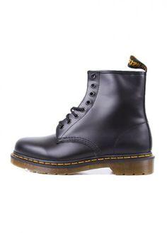 Stiefel, Wolle Kaufen, Dr Martens 1460, Schwarze Stiefel, Glatt, Unisex 13a0563a92