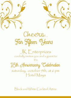 Invite online inviteonline on pinterest 15th golden wedding anniversary invitation wordings stopboris Images