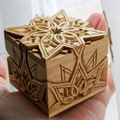 More Than Just Chip Carving © ( Wooden Ring Box, Wooden Boxes, Wood Crafts, Diy And Crafts, Engagement Box, Chip Carving, Wood Carving Designs, Lace Decor, Rustic Jewelry
