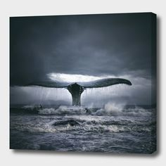 Fotografia Whale& surf de Tomasz na Photomontage, Whale Canvas, Wale, Mundo Animal, Sea And Ocean, Ocean Sunset, Ocean Life, Marine Life, Photo Manipulation