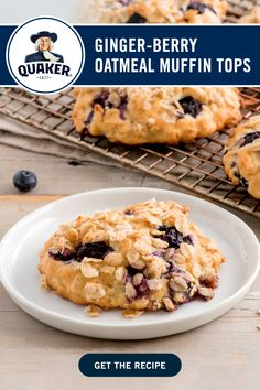 Delicious Desserts, Yummy Food, Oatmeal Muffins, Desert Recipes, Holiday Baking, Blueberries, Chocolate Recipes, Scones, Love Food