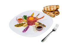 Biftec Tartar. Detalii la http://www.casavanatoreasca.ro/meniu/