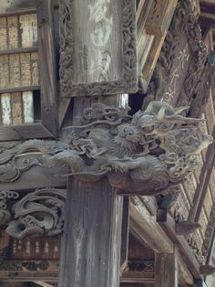 "Gakudo Hall(額堂) of ""Naritasan shinshoji Temple(Japanese, 成田山新勝寺)"" in Chiba, Prefecture, Japan. Japanese Dragon, Chinese Dragon, Dragon Tattoo Sketch, Dojo, Art Nouveau Furniture, Chinese Mythology, Japanese Artwork, Japan Design, Wooden Art"