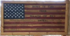 Made this on bead board and framed it, its stained and painted and distressed to look old. I stenciled Home of the Free Because of the Brave, sells on etsy for $45 https://www.etsy.com/shop/countrycraftsbydebbi?ref=hdr_shop_menu