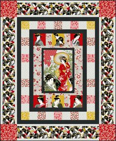 Shop | Category: Current | Product: Diary of a Geisha Quilt - Giesha's Garden