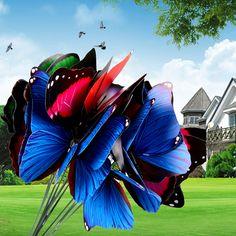 20Pcs/pack Colorful 3D Butterfly Garden Ornament Flowerpot Decor Butterfly  Home Room Decor Wall Sticker