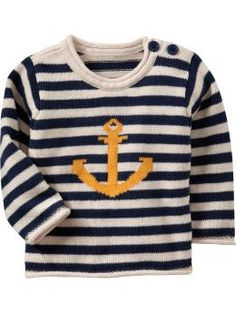 Striped Crew Neck Sweaters for Baby (This is One of my favorite shirts my son owns! I wish I could find more clothing like it)