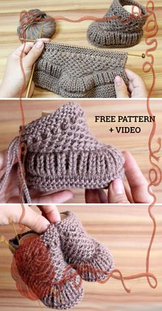 Freie strickmuster knitting patterns knit warm baby booties free knitting pattern + video knitting pattern baby booties free freiestrickmuster knit knitting pattern patterns video warm how to knit fruit citrus slices with free pattern + video Baby Booties Knitting Pattern, Crochet Baby Booties, Knitting Patterns Free, Knit Patterns, Free Knitting, Knit Crochet, Kids Knitting, Knitting Toys, Free Crochet