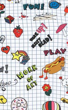 Notepad Printed Top by Mira Mikati