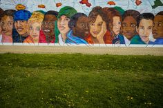 Alex Webb USA. Cleveland. 2016. Mural at Cudell Recreation Center where Tamir Rice was shot.