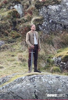 Charlie Hunnam films scenes for the upcoming movie 'Knights of the Round Table' in Capel Curig, Wales on April 17, 2015 in London, United Kingdom. (Photo by Radcliffe/Bauer-Griffin/GC Images)