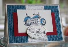 Stampin' 'n Stuff: Stamp-a-Stack #3 Motorcycle