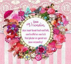 Verjaardagskaart Vrouw Tekst Omringd Door Mooie Bloemen Plaatjes