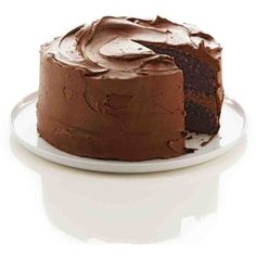 One-Bowl Chocolate Cake ❤ liked on Polyvore featuring food, cakes and chocolate