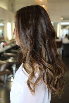 Who says brown is boring? We're in love with the golden-brown ends that leave more obvious ombré jobs in the dust.Image via Pinterest
