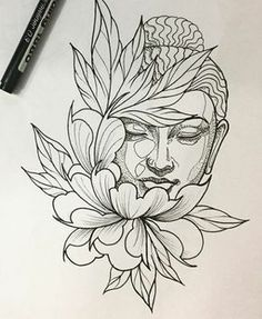 Resultado de imagen de dessin bouddha tattoo