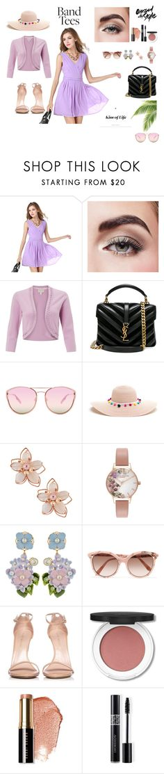 """V collar chiffon suspenders fairies pleated skirts"" by anli-h on Polyvore featuring Avon, Monsoon, Yves Saint Laurent, Quay, NAKAMOL, Olivia Burton, Dolce&Gabbana, Victoria Beckham, Stuart Weitzman and Bobbi Brown Cosmetics"