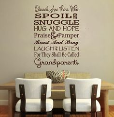 Grandparents Quote Wall Vinyl Decal Love Family by ArtikIce, $14.00