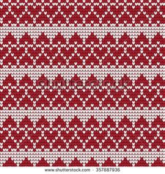 Ornamental Pattern For Knitting And Embroidery Heart Stock Photos, Images, & Pictures   Shutterstock