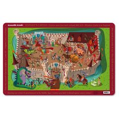 Crocodile Creek - Knights Castle Placemat (2823-6): Toys & Games Knight Costume For Kids, Beady Eye, Windsor Castle, Made Of Wood, Toy Store, Middle Ages, Crocodile, Placemat, Cow