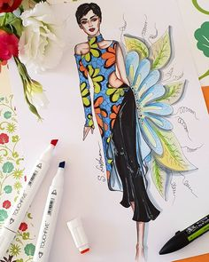 By Sveta Leyfman Dress Design Drawing, Dress Design Sketches, Fashion Design Sketchbook, Fashion Design Drawings, Fashion Illustration Collage, Fashion Illustration Dresses, Dress Illustration, Fashion Model Sketch, Fashion Sketches